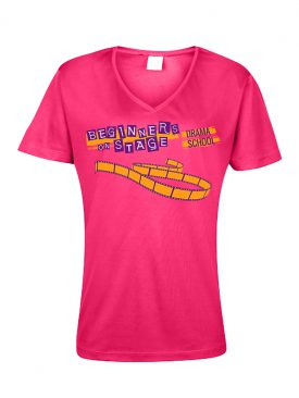 Cool T Women (VNeck) – Hot Pink